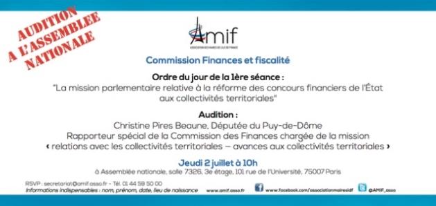 Commission Finances - Séance 1 - Jeudi 2 juillet 10h