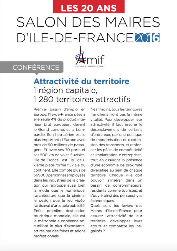 Salon de l'AMIF : Conférence Attractivité :
