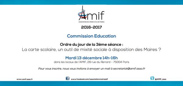 Commission Education - Séance 3 - Mardi 13 décembre 2016 14h