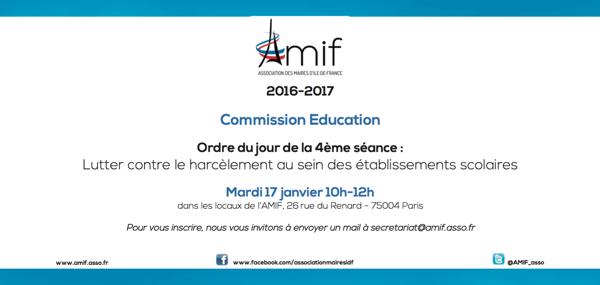 Commission Education - Séance 4 - Mardi 17 janvier 10h