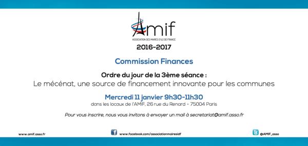Commission Finances - Séance 3 - Mercredi 11 janvier 9h30