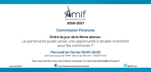 Commission Finances - Séance 4 - Mercredi 1er février 9h30