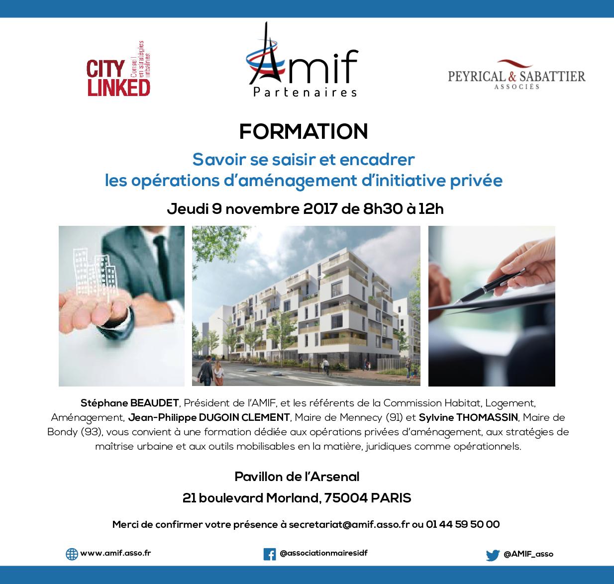 Participez à la formation AMIF PARTENAIRES sur l'aménagement du territoire !