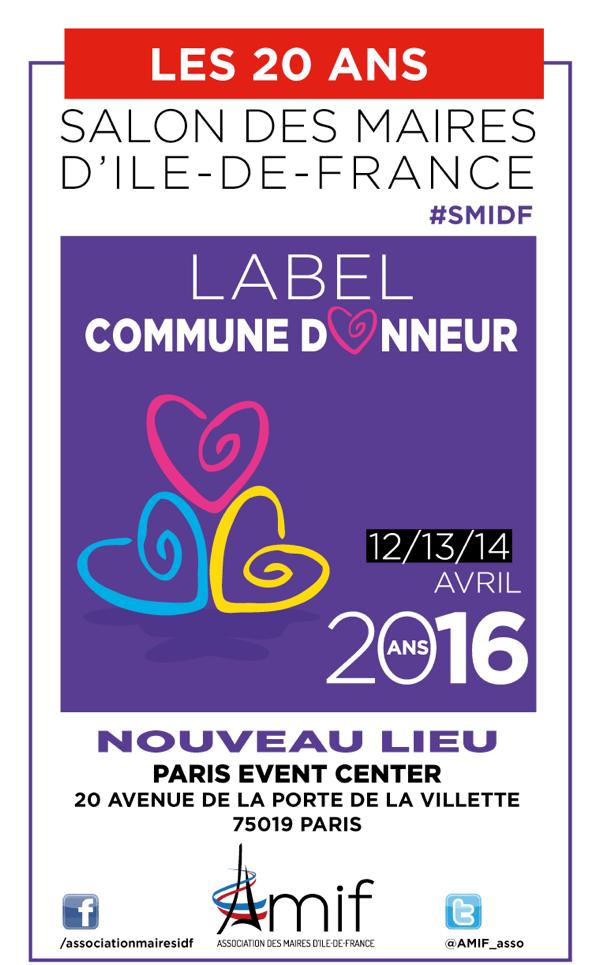 Assistez à la remise des prix du Label Commune Donneur jeudi 14 avril à 14h30