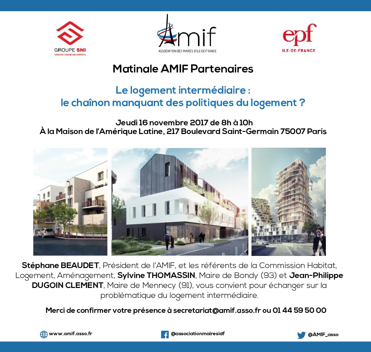 #SAVETHEDATE : L'AMIF VOUS INVITE À SA MATINALE DÉDIÉE AU LOGEMENT