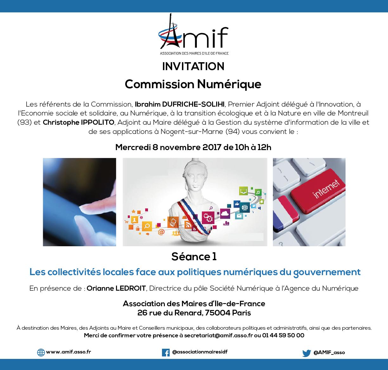 Commission Numérique - Séance 1 - Mercredi 8 novembre 2017 - 10h-12h