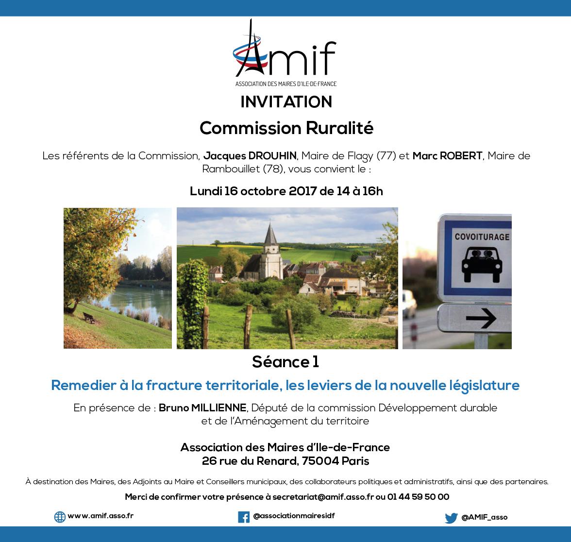 Commission Ruralité - Séance 1 - Lundi 16 octobre 2017 - 14h-16h