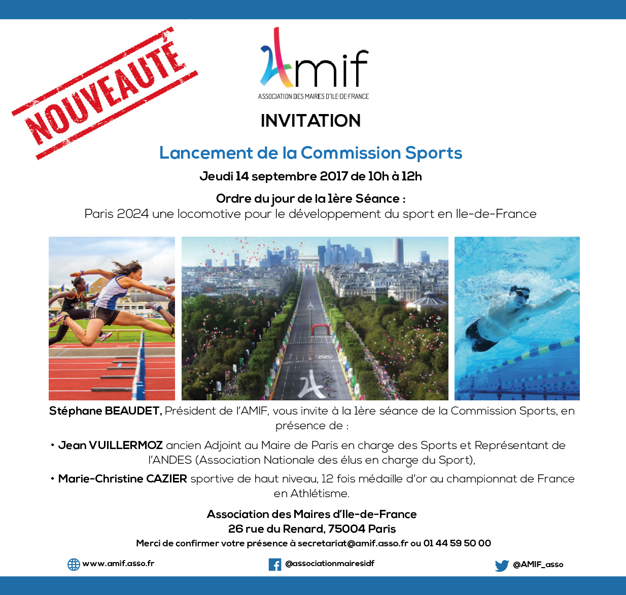 Commission Sports - Séance 1 - jeudi 14 septembre 2017 - 10h-12h