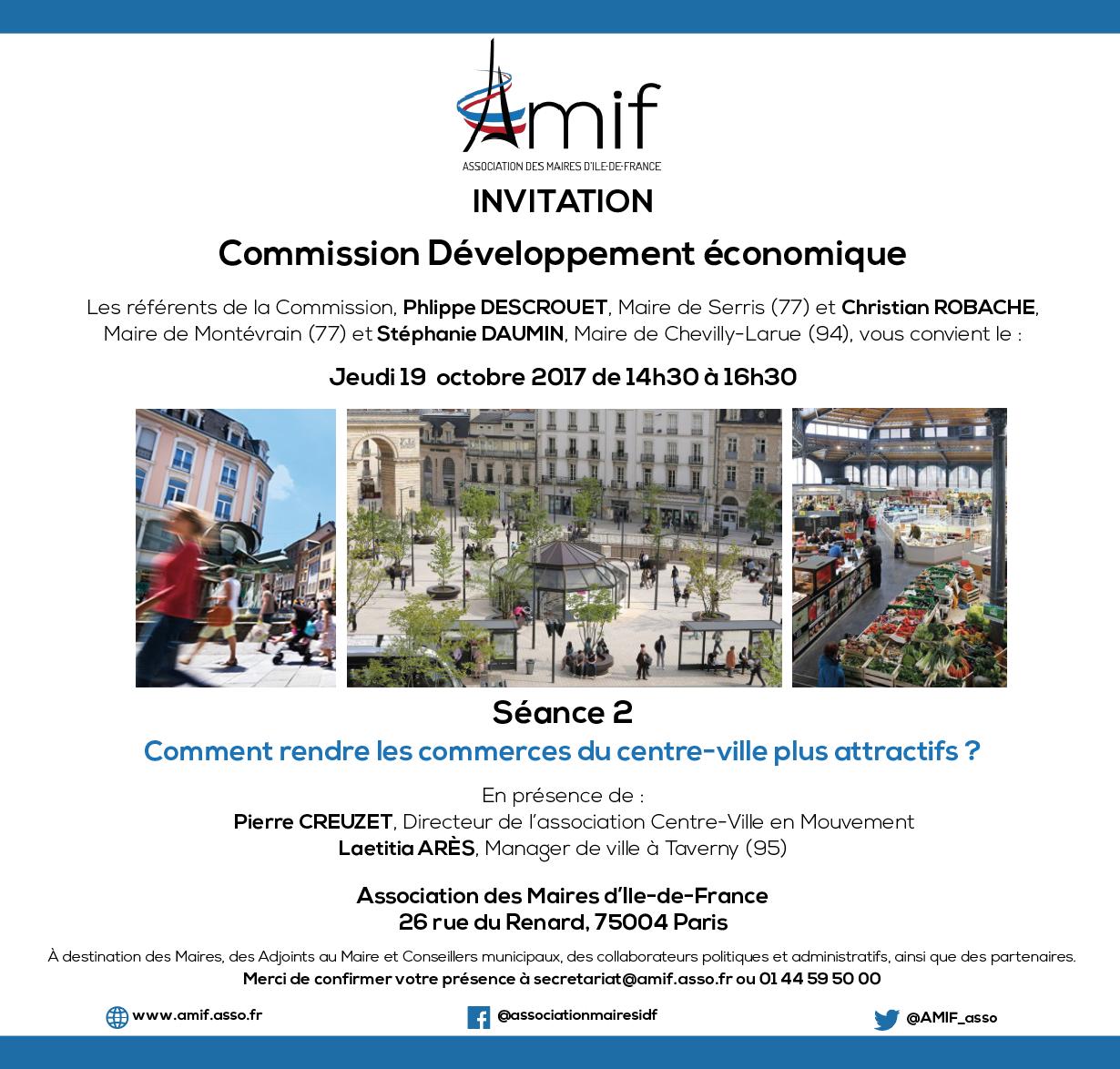 Commission Développement économique - Séance 2 - jeudi 19 octobre 2017 - 14h30-16h30