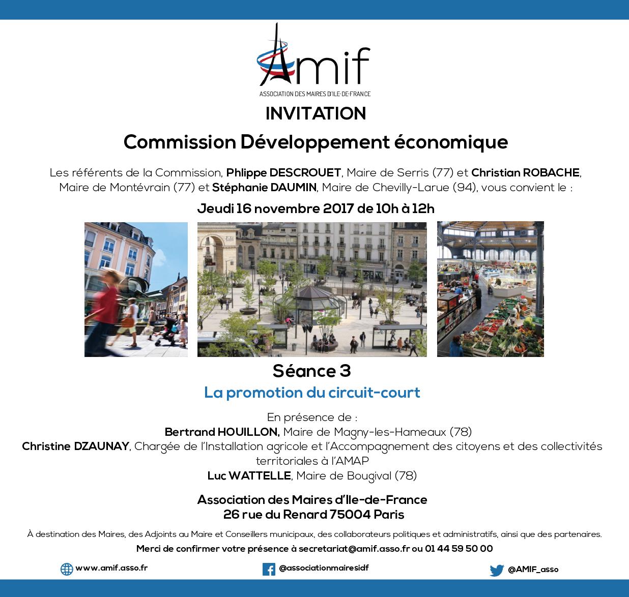 Commission Développement économique - Séance 3 - Jeudi 16 novembre 2017 - 10h-12h