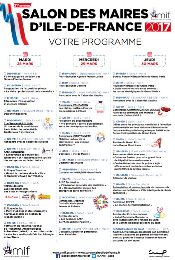 Découvrez le programme du SMIDF 2017