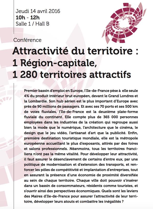Conférence Attractivité du territoire