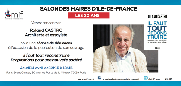 Roland Castro, invité d'honneur du Salon des Maires d'Ile-de-France