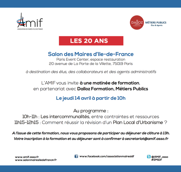 Participez à une matinée de formation sur le Salon des Maires d'Ile-de-France avec Dalloz