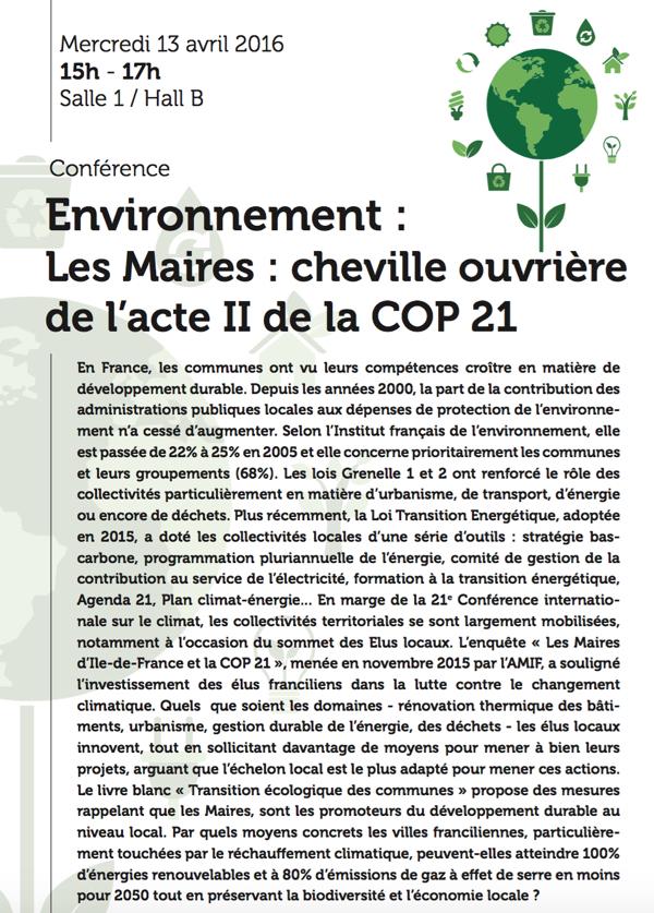 Conférence Environnement