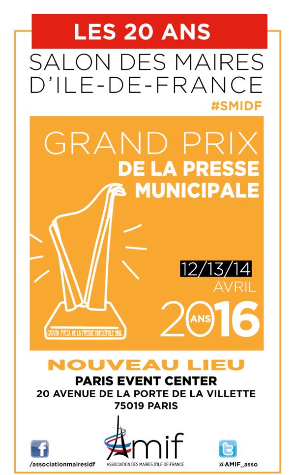 Rendez-vous jeudi 14 avril à 15h pour connaître les lauréats du Grand Prix de la presse municipale