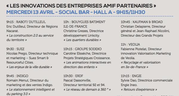 Les innovations des entreprises AMIF Partenaires au #SMIDF