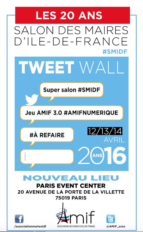 AMIF 3.0 : découvrez le tweet wall