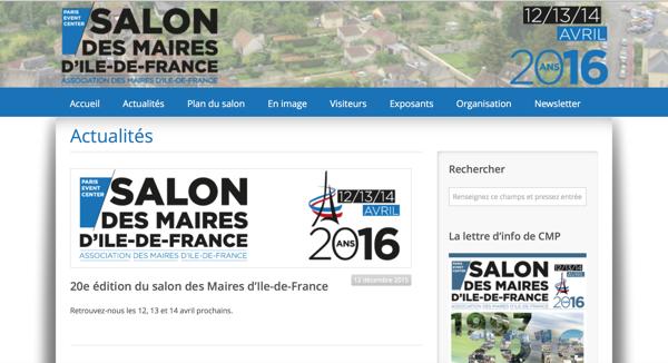 Un site dédié au Salon des Maires d'Ile-de-France