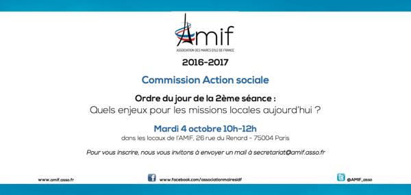 Commission Action sociale - Séance 2 - Mardi 4 octobre 10h