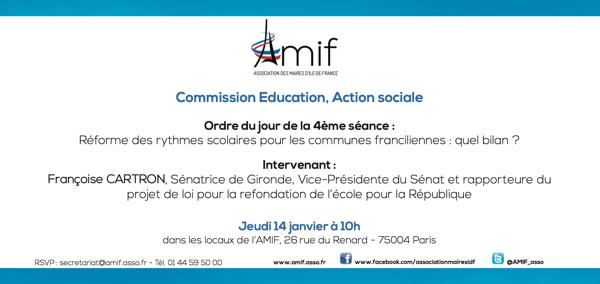 Commission Education, Action sociale - Séance 4 - Jeudi 14 janvier 10h