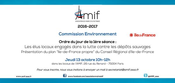 Commission Environnement - Séance 1 - Jeudi 13 octobre 10h