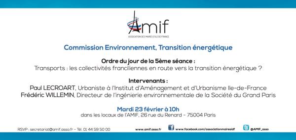 Commission Environnement - Séance 5 - Mardi 23 Février 10h