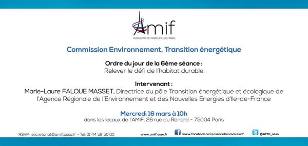 Commission Environnement - Séance 6 - Mercredi 16 mars 10h