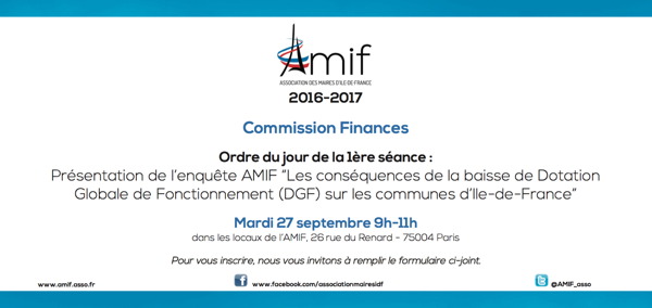 Commission Finances - Séance 1 - Mardi 27 septembre 9h
