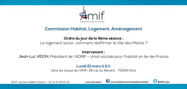 Commission Habitat - Séance 4 - Lundi 21 mars 11h