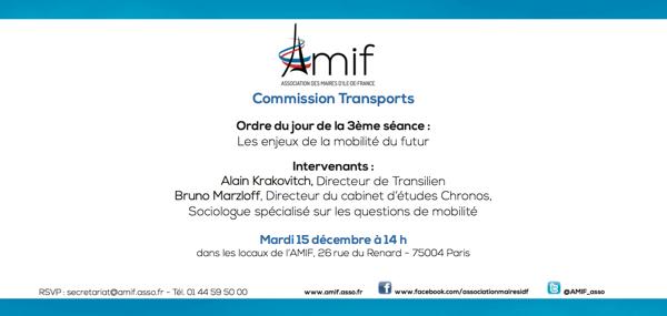 Commission Transports - Séance 3 - Mardi 15 décembre 14h