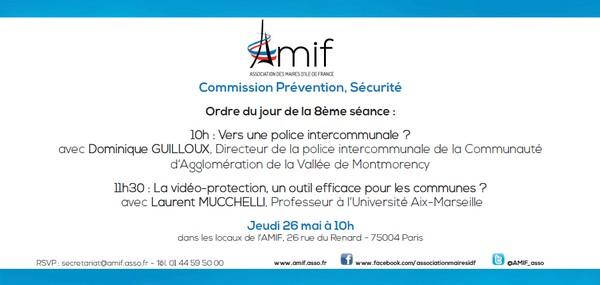 Commission Prévention, Sécurité - Jeudi 26 mai 10h