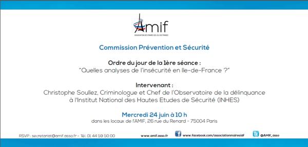 Commission Prévention, Sécurité - Séance 1 - Mercredi 24 juin 10h