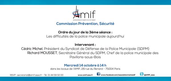 Commission Prévention, Sécurité - Séance 3 - Mardi 14 octobre 14h