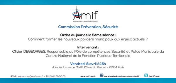 Commission Prévention, Sécurité - Vendredi 8 avril 15h