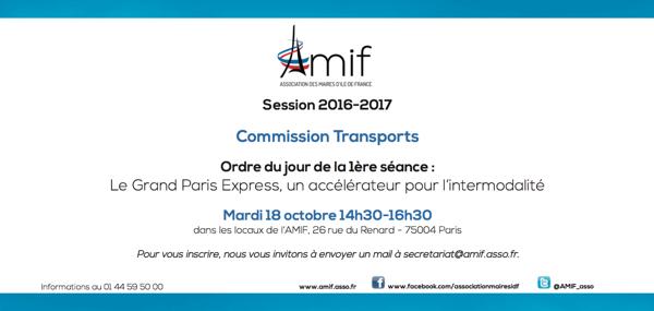 Commission Transports - Séance 1 - Mardi 18 octobre 14h30