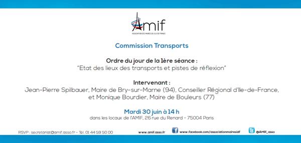 Commission Transports - Séance 1 - Mardi 30 juin 14h