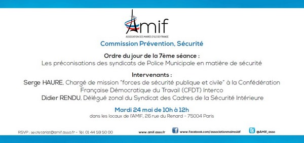 Commission Prévention, Sécurité - Mardi 24 mai 10h