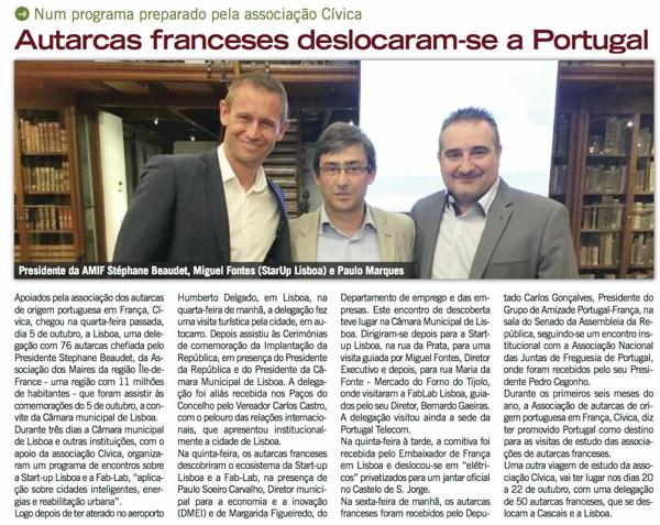 Lusojornal : Retour sur le voyage d'études de l'AMIF à Lisbonne