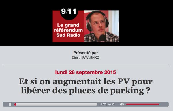 Stéphane Beaudet est l'invité de SudRadio à propos de la réforme du stationnement